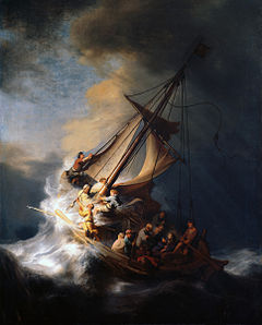 Rembrandt of Christ quieting Storm
